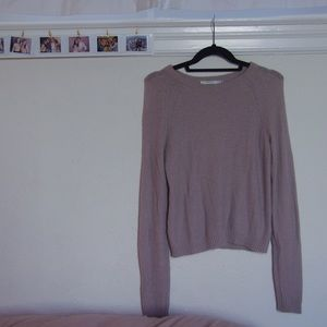 aritzia mauve cashmere sweater